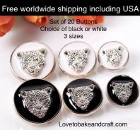 Lion Buttons, Leopard buttons, Tiger buttons, Free worldwide shipping (2) (3)